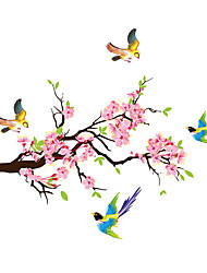 cheap -Plum Blossoms Branches Magpies Wall Sticker PVC Decals Room Decor Poster Home Decor