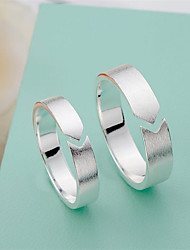 cheap -Band Ring Mismatched Silver Copper Silver-Plated Stylish Artistic Simple 1 Pair Adjustable / Couple's / Open Cuff Ring / Adjustable Ring