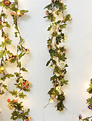 cheap -2.2M 20Leds Led Rose Flower Fairy String Holiday Lights AA Battery Powered Wedding Event Party Garland Decor Flexible Led Copper Wire String Lights (come without battery)