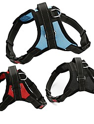 cheap -Dog Harness Mesh Harness Adjustable / Retractable Vest Hiking Walking Solid Colored Mesh Black / Red Black / White Camouflage Color Blue / Red Black / Pink
