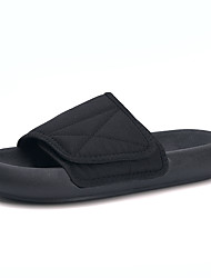 cheap -Unisex Summer Casual Daily Beach Slippers & Flip-Flops Walking Shoes Elastic Fabric Breathable Height-increasing Shock Absorbing Black / Gray