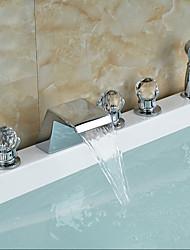 Недорогие -смеситель для ванны - современный хромированный смеситель для ванны и душа, смеситель для душа