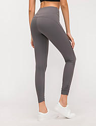 cheap -Women's High Waist Yoga Pants Cropped Leggings Butt Lift 4 Way Stretch Breathable Purple Green Gray Nylon Non See-through Gym Workout Running Fitness Sports Activewear High Elasticity Skinny