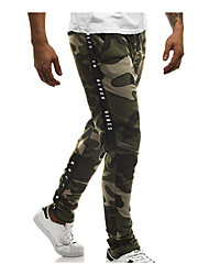cheap -Men's High Waist Jogger Pants Harem Pants / Trousers Breathable Camo / Camouflage White Red Army Green Cotton Gym Workout Running Fitness Sports Activewear Stretchy