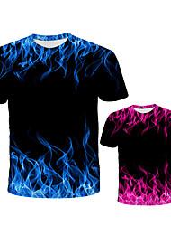Недорогие -3-12 лет дети классический огонь серии футболка покер пламя о-образным вырезом с коротким 3d отпечатано мужской тройник высокое качество топ футболка