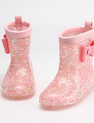 Недорогие -Мальчики / Девочки Резиновые сапоги ПВХ Ботинки Маленькие дети (4-7 лет) Джинсовый Синий / Желтый / Пурпурный Весна