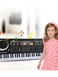cheap -Electronic Keyboard Microphone Piano Works with iPad, iPod touch, and iPhone. Education Multi-Function 61 Key Plastics Unisex Boys' Girls' Kids Children's 1 pcs Graduation Gifts Toy Gift