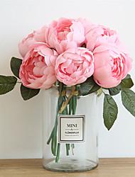 Недорогие -27см пион моделирования цветок свадьбы с цветами в руках украшения дома 6 палки