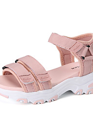 cheap -Women's Sandals Flat Sandal Summer / Fall Flat Heel Open Toe Casual Minimalism Daily Outdoor Elastic Fabric Water Shoes / Walking Shoes Black / Pink