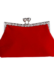 cheap -Women's Bags Polyester Evening Bag Crystals Chain for Wedding / Event / Party Black / Red / Wedding Bags