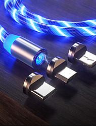 Недорогие -свечение светодиодное освещение быстрая зарядка магнитный usb тип c кабель магнитный кабель usb микро кабель зарядного устройства провод для iphone android