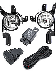 cheap -Car Front Bumper Fog Lights Lamps with Bulb Wiring Harness Pair For Honda CR-V CRV 2007-2009