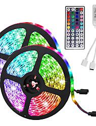 Недорогие -светодиодные полосы света (2 * 5 м) 10 м / 32,8 фута 3528 RGB 600 светодиодов 8 мм полосы освещения гибкое изменение цвета с 44