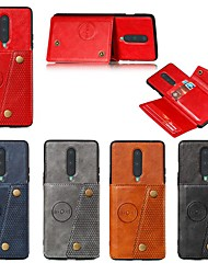 cheap -Case For OnePlus 8 / Oneplus 8 pro / one plus 7T Card Holder / with Stand / Magnetic Back Cover Solid Colored PU Leather For OnePlus 7/7 Pro/one plus 7T Pro