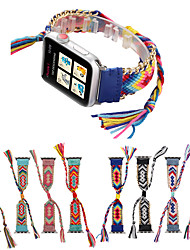 Недорогие -плетеный ремешок для веревки для яблока ремешок для часов iwatch band 42 / 44mm / 38 / 40mm браслет ремешок для часов ремень ручной работы часы ремешок для часов серии 5 4 3 21