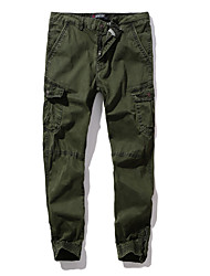 cheap -Men's Hiking Pants Hiking Cargo Pants Summer Outdoor Standard Fit Breathable Quick Dry Soft Sweat-wicking Cotton Pants / Trousers Bottoms Army Green Khaki Ivory Camping / Hiking Hunting Fishing 29 30