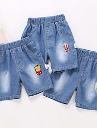 cheap -Kids Toddler Boys' Blue Solid Colored Hole Shorts Red