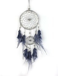 cheap -Boho Dream Catcher Handmade Gift Wall Hanging Decor Art Ornament Craft Feather Bead 50*11cm for Kids Bedroom Wedding Festival