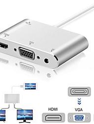 Недорогие -4 in1 цифровое аудио-видео hdtv конвертер для iphone в hdmi vga av адаптер для iphone xs x xr 8 7 6 плюс для ipad air / mini / pro