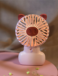 cheap -Desktop LED Lamp Small Fan usb Rechargeable mini Handheld Fan Desktop Mini Fan
