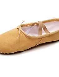 cheap -Women's Ballet Shoes Ballroom Shoes Flat Flat Heel Camel Black Red Lace-up