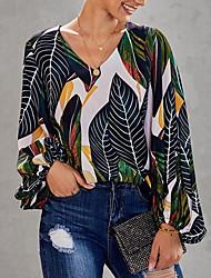 Недорогие -летняя блузка с цветочным принтом