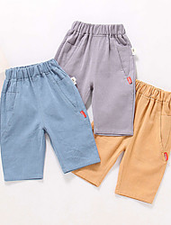 cheap -Kids Toddler Boys' Basic Blue Solid Colored Shorts Blue