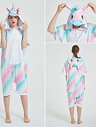 cheap -Adults' Kigurumi Pajamas Unicorn Flying Horse Onesie Pajamas polyester fibre Yellow / Pink / Blue Cosplay For Men and Women Animal Sleepwear Cartoon Festival / Holiday Costumes / Leotard / Onesie