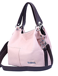 cheap -Women's Bags PU Leather Tote Zipper Solid Color Daily Leather Bags Handbags Black Blushing Pink Khaki Green