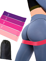 cheap -Booty Bands Resistance Bands for Legs and Butt 6 pcs Sports Latex Home Workout Yoga Pilates Strength Training Muscle Building Physical Therapy Weight Loss For Men Women