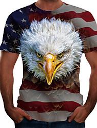 abordables -Homme Graphique Animal Tee-shirt Basique Elégant Quotidien Sortie Blanche