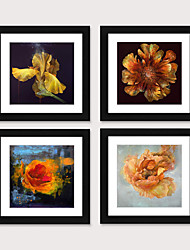 cheap -Framed Art Print Framed Set 4 - American Idyllic Adornment Picture French Country Brief Beautiful Dining-Room Mural Porch Bedroom Head of a Bed Flower Hangs Picture PS Illustration Wall Art