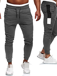 cheap -Men's Joggers Jogger Pants Track Pants Sports Pants Sweatpants Athletic Athleisure Wear Bottoms Drawstring Running Walking Jogging Training Breathable Moisture Wicking Soft Sport Black Red Gray Color