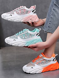 cheap -Women's Trainers / Athletic Shoes Summer Flat Heel Round Toe Daily Mesh Pink / Orange / Blue