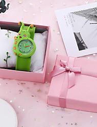 cheap -Kids Quartz Watches Quartz New Arrival Chronograph Analog Green / Silicone