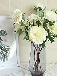 Недорогие -52см один филиал пион китайский стиль искусственный цветок украшение дома свадьба 1 палка