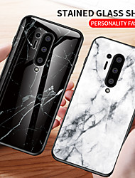 cheap -Marble Tempered Glass Shockproof Protection Cover Phone Case For OnePlus 8 Pro OnePlus 7T Pro One Plus 7 Pro OnePlus 6T One Plus 6 Soft TPU Bumper Protect