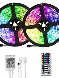 Недорогие -(2 * 5м) 10м / 32,8 фута светодиодные полосы rgb tiktok lights 2835 600 светодиодов 8 мм полосы освещения гибкое изменение цвета с помощью 44