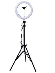 cheap -26cm LED Selfie Ring Light 24W 5500K Studio Photography Photo Fill Ring Light with Tripod for iphone Smartphone Makeup