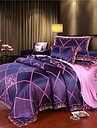 cheap -Double all-european Satin Satin sheets 4-piece Jacquard sheets quilts 4-piece lace