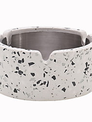 cheap -Terrazzo ashtray round Nordic decoration creative modern trend multifunctional ashtray D12 H4CM