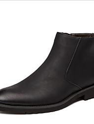 Недорогие -Муж. Наступила зима Повседневные Ботинки Кожа Сапоги до середины икры Темно-коричневый / Черный / Серый