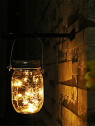 cheap -Indoor Outdoor Waterproof Lamp Solar Mason Jar Lights 2M 20 Led String Fairy Firefly Lights for Patio Lawn Garden Party Decorati
