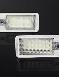 Недорогие -Ambother светодиодные огни номерного знака белый 2 шт. для audi a3 a4 a5 a6 q7