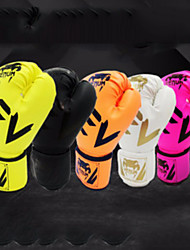 cheap -Boxing Gloves For Martial Arts Muay Thai MMA Kickboxing Full Finger Gloves Durable Shock Absorption Breathable Shockproof Adults Men's Women's - White Black Pink
