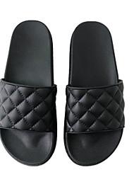 cheap -Women's Flats Summer Stiletto Heel Open Toe Daily PU Black