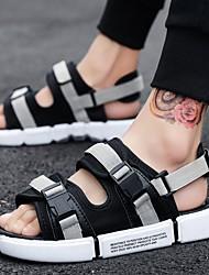 cheap -Men's Summer Outdoor Sandals Canvas Non-slipping Black / Green / Gray