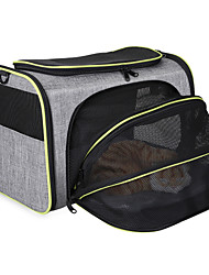 cheap -Dog Cat Pets Cages Travel Bag Travel Carrier Bag Airline Approved Pet Carrier Breathable Washable Travel Classic Fashion Terylene Baby Pet Small Dog Gray