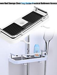 Недорогие -практичный держатель для душевой стойки для ванной комнаты организатор полки для ванной комнаты душевой поддон для шампуня одноуровневый держатель для душа