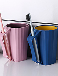 cheap -1 PC  Bathroom Tumblers Brushing Cup with Handle Bathroom Accessory Tooth Cup Couple Lovers Family Use